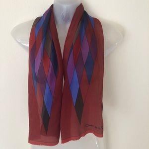 Oscar de la Renta silk scarf Jester Diamonds